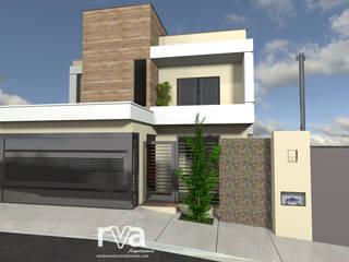 Projeto de um Sobrado Residencial Jardim Isabela: Casas  por RVA Arquitetura,Eclético