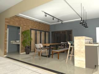 Projeto de um Sobrado Residencial Jardim Isabela: Garagens e edículas  por RVA Arquitetura,Eclético