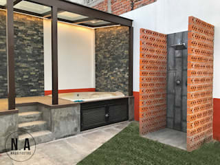 NA Arquitectos Modern clinics Bricks Orange