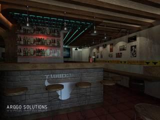 INTERIOR DE RESTAURANTE: Comedores de estilo rústico por ARQUITECTOS GO SOLUTIONS