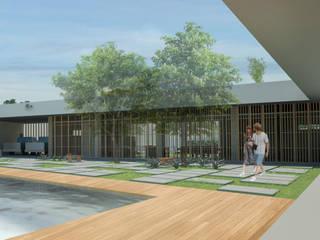 Residência Marina Rio Bello: Casas  por Baré Arquitetura