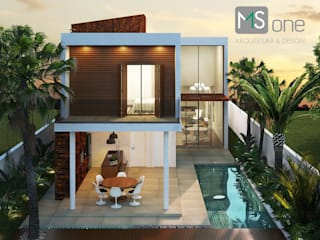 Casa em condominio: Casas  por MS One Arquitetura & Design de Interiores
