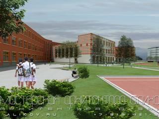 Школа на 500 уч. во Владикавказе: Дома в . Автор – Мастерская архитектора Аликова