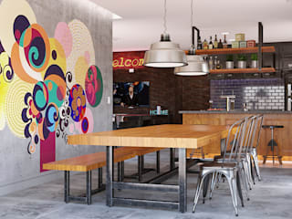 Área Gourmet: Salas multimídia  por MS One Arquitetura & Design de Interiores