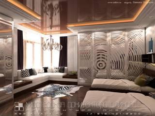 Интерьер дома во Владикавказе: Спальни в . Автор – Мастерская архитектора Аликова