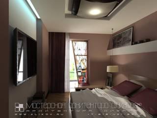 Интерьер квартиры по ул. Алагирской во Владикавказе: Спальни в . Автор – Мастерская архитектора Аликова