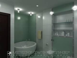 Интерьер квартиры по ул. Алагирской во Владикавказе: Ванные комнаты в . Автор – Мастерская архитектора Аликова
