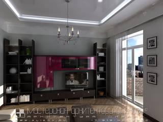 Интерьер квартиры по ул.Коцоева во Владикавказе: Гостиная в . Автор – Мастерская архитектора Аликова
