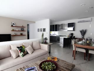Departamentos Parview: Comedores de estilo moderno por REC Arquitectura
