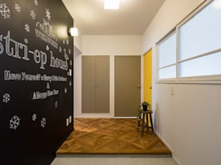 vibe design inc. Eclectic style corridor, hallway & stairs