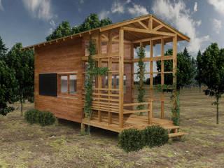 PRATIKIZ MIMARLIK/ ARCHITECTURE Maisons rurales Bois Effet bois