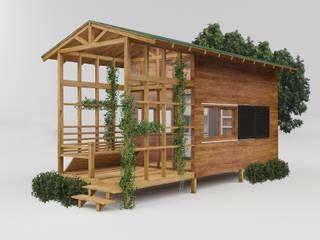 PRATIKIZ Mimarlık/ Architecture – Ahşap Ev: kırsal tarz tarz Evler