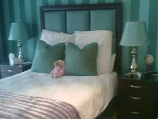 Teal Guest Suite CKW Lifestyle Associates PTY Ltd Eclectic style bedroom Wood Turquoise