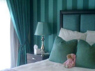 CKW Lifestyle Associates PTY Ltd Eclectic style bedroom Wood Turquoise