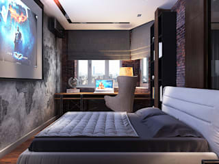 Your royal design Industrial style bedroom Grey