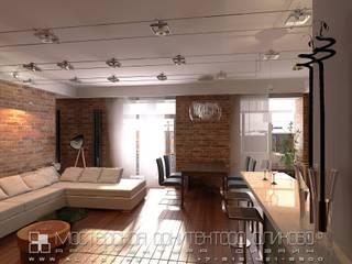Интерьер квартиры в стиле лофт во Владмкавказе: Гостиная в . Автор – Мастерская архитектора Аликова
