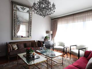 Kış bahçeli ev Klasik Oturma Odası Orkun İndere Interiors Klasik
