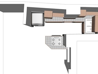 Progetto.: Cucina in stile in stile Minimalista di T.A. arredo_arredamento su misura