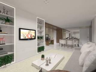 Living room by Larissa Vinagre Arquitetos, Modern