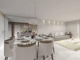 Dining room by Larissa Vinagre Arquitetos, Modern