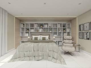 Suíte Master: Quartos  por Larissa Vinagre Arquitetos,Moderno