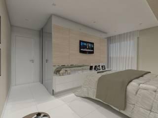 Modern style bedroom by Larissa Vinagre Arquitetos Modern