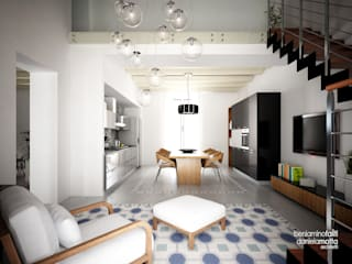 Living room by Beniamino Faliti Architetto, Modern