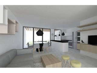 PROYECTO DUPLEX CLAROS DEL BOSQUE: Casas de estilo moderno por FANESI & NAVARRO