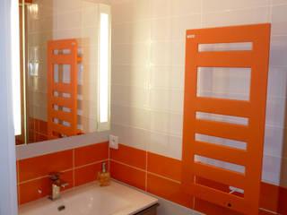 Rénovation petite salle d'eau parisienne par Harmonie&Design