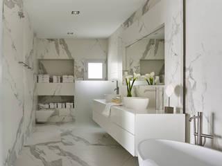 地中海スタイルの お風呂・バスルーム の SOLER-MORATO ARQUITECTES SLP 地中海 セラミック