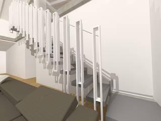 Flavia Benigni Architetto Pasillos, vestíbulos y escaleras de estilo moderno