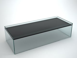 Recess – Rectangular Glass Coffee Table:   by Klarity Glass Furniture