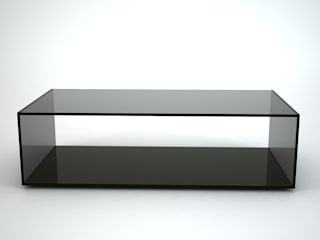 Quebec Rectangular Grey Tint Glass Coffee Table by Klarity:   by Klarity Glass Furniture