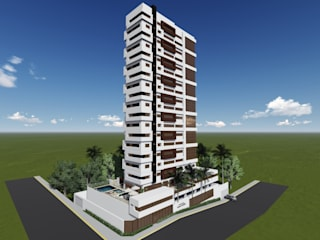 Condomínio Residencial Lisette Galvão:   por Queiroz Leite Arquitetura Ltda.,Moderno