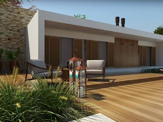 Casas de estilo moderno por Cíntia Schirmer | Estúdio de Arquitetura e Urbanismo