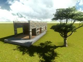 Proyecto para cabaña de piedras y madera:  de estilo  por Arqlimine