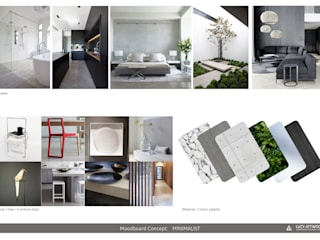 INTERMEZZO APARTMENTS de Lucy Attwood Interior Design + Architecture Minimalista
