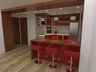 interior cocina:  de estilo  por Grupo AGI-7