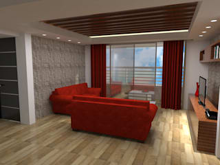 interior sala:  de estilo  por Grupo AGI-7