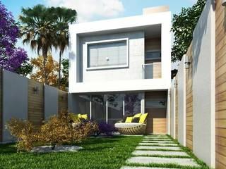CASA GEMINADA Casas modernas por Amauri Berton Arquitetura Moderno
