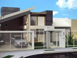 FACHADAS CONTEMPORÂNEAS Casas ecléticas por Amauri Berton Arquitetura Eclético