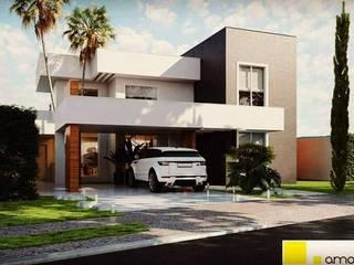 現代房屋設計點子、靈感 & 圖片 根據 Amauri Berton Arquitetura 現代風