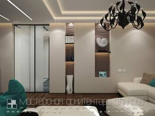 Cuartos de estilo  por Мастерская архитектора Аликова,