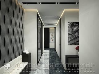 Modern Corridor, Hallway and Staircase by Мастерская архитектора Аликова Modern