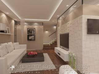 Квартира Тауч: Гостиная в . Автор – Мастерская архитектора Аликова