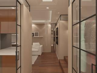 Квартира Тауч: Коридор и прихожая в . Автор – Мастерская архитектора Аликова