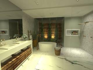 Casa de Banho do Casal: Banheiros  por Gláucia Brito Interiores,Eclético