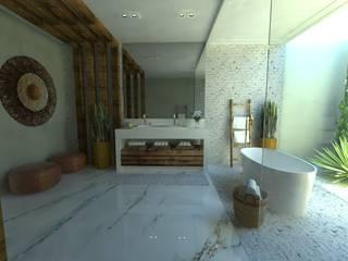 Casa de Banho do Casal Banheiros ecléticos por Gláucia Brito Interiores Eclético