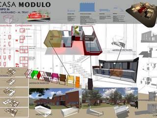 Industrial style houses by AUREA Estudio de Diseño Industrial