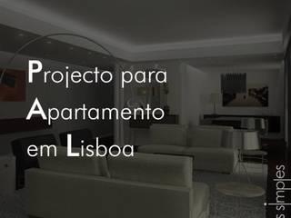 Linhas Simples Paredes y pisos de estilo minimalista